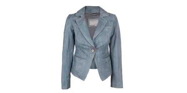 Dámske modré kožené sako Company&Co