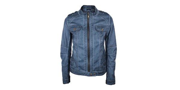 Dámska koženková bunda v modrej farbe Company&Co