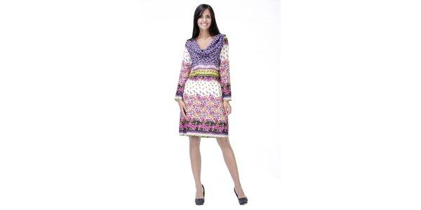 Svetlé kvetinové šaty Peace&Love