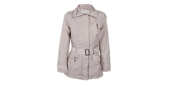 Dámsky svetlo béžový kabátik s opáskom Company&Co