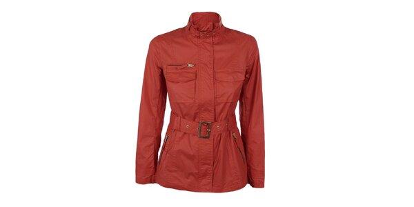 Dámsky tehlovo červený kabátik Company&Co