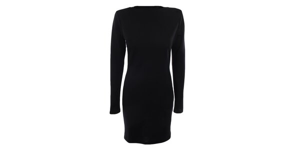 Dámske čierne šaty s dlhými rukávmi Gene