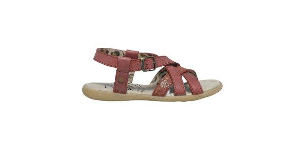 Dámske červené remienkové sandále Buggy