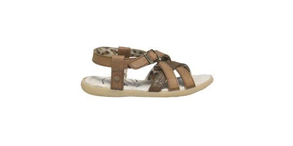 Dámske hnedé remienkové sandále Buggy