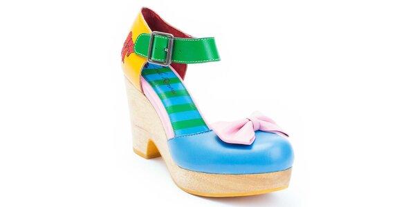 Dámske farebné topánky s mašľou Lola Ramona