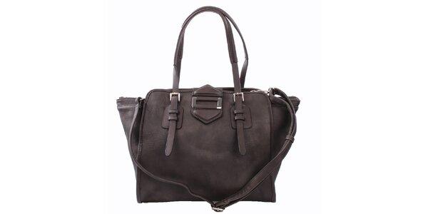 Dámska tmavo hnedá kabelka s kovovou ozdobou Bessie
