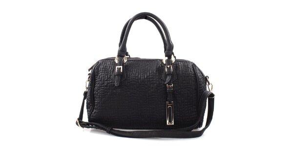 Dámska čierna kabelka s reliéfnym vzorom Bessie