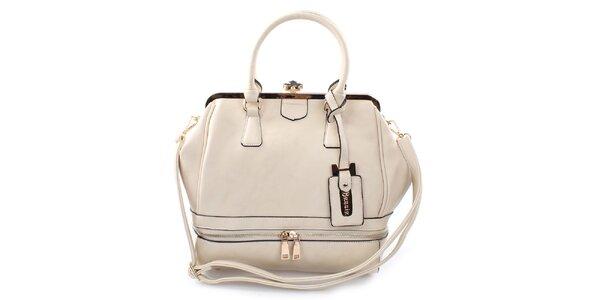 Dámska elegantná smotanová kabelka Bessie