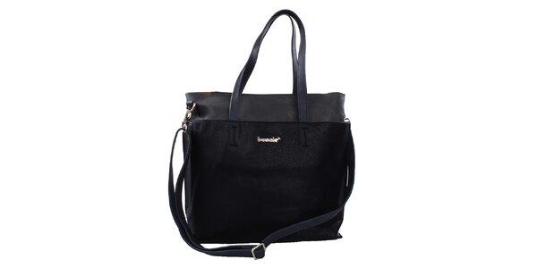 Dámska jednoduchá čierna kabelka Bessie