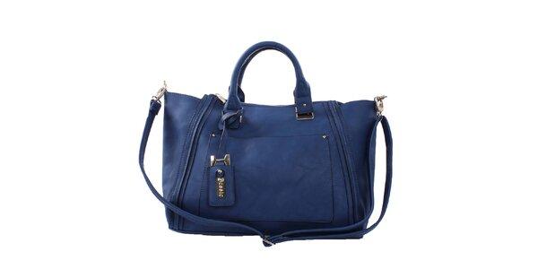 Dámska modrá kabelka s oblými ušami Bessie