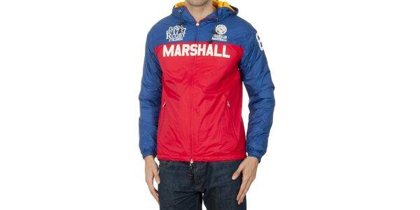 Pánska modro-červená šušťáková bunda Franklin & Marshall
