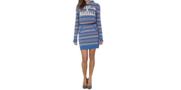 Dámske vlnené vzorované šaty Franklin & Marshall