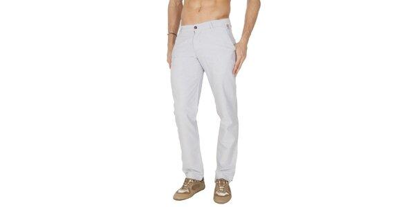 Pánske svetlo šedé plátené nohavice Franklin & Marshall