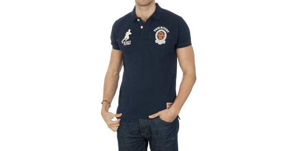 Pánske polo tričko s ragbistickým motívom Franklin & Marshall
