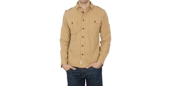 Pánska béžová košeľa Franklin & Marshall