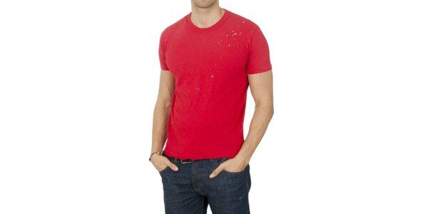 Pánske červené tričko Franklin & Marshall