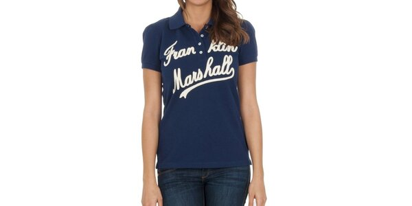Dámske námornícke polo tričko s nápisom Franklin & Marshall