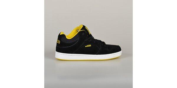 Pánske čierne tenisky s žltou podšívkou Lando
