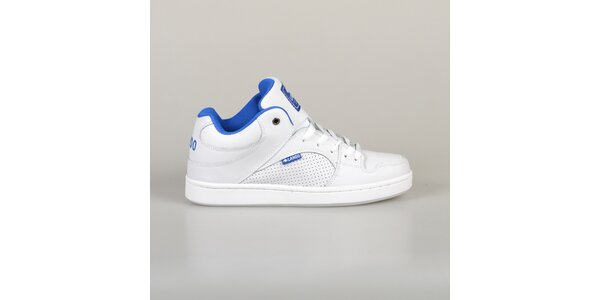 Pánske biele tenisky s modrou podšívkou Lando
