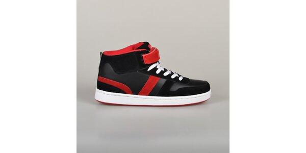 Pánske červeno-čierne tenisky Lando
