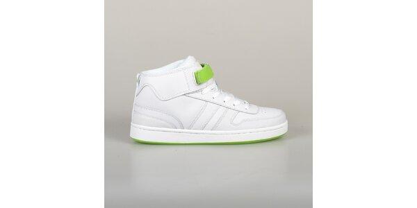 Pánske bielo-zelené tenisky Lando