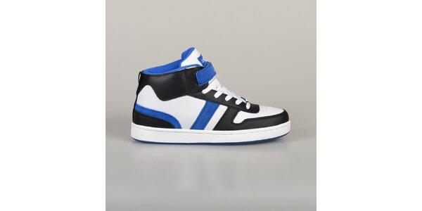Pánske modro-čierno-biele tenisky Lando