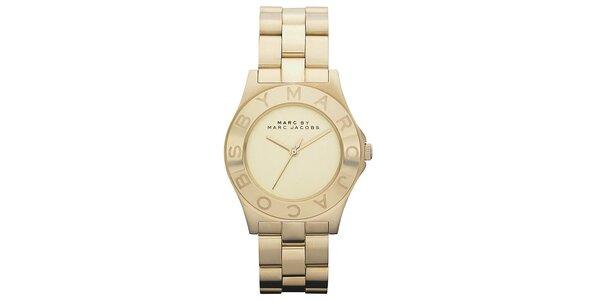 Dámske pozlátené ocelové hodinky s jednoduchým ciferníkom Marc Jacobs