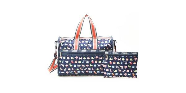 Dámska cestovná taška s postavami LeSportsac