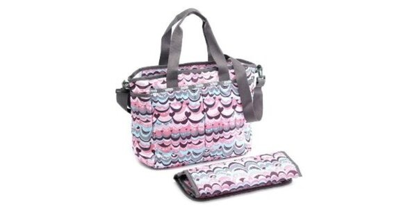 Dámska kabelka LeSportsac s ružovou potlačou
