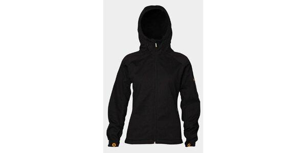 Dámska čierna softshellová bunda Sweep s kapucou