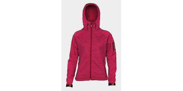 Dámska ružová softshellová bunda Sweep s kapucou