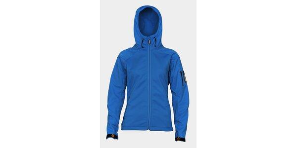 Dámska svetlo modrá softshellová bunda Sweep s kapucou