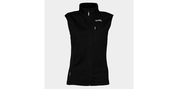 Dámska čierna softshellová vesta Sweep