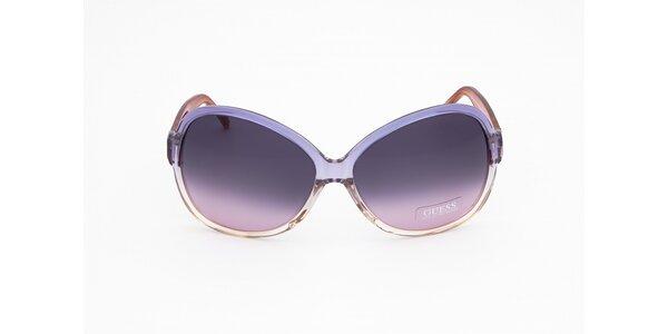 Dámske lila slnečné okuliare Guess