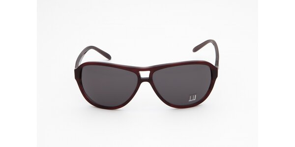 Dámske tmavo hnedé slnečné okuliare Dunhill