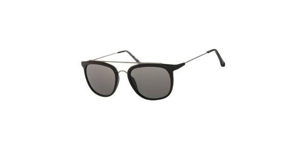 Dámske čierne slnečné okuliare Calvin Klein s kovovými detailmi