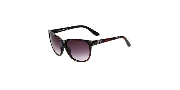 Dámske čierne slnečné okuliare s farebnou potlačou Miss Sixty