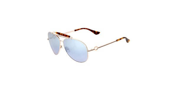 Dámske žíhané aviator slnečné okuliare Miss Sixty