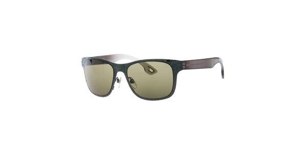 Dámske šedo-hnedé slnečné okuliare Diesel