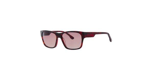 Pánske červeno žíhané slnečné okuliare Diesel