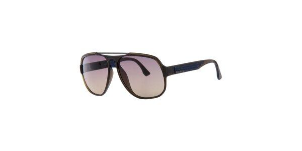 Pánske retro modro-hnedé slnečné okuliare Diesel