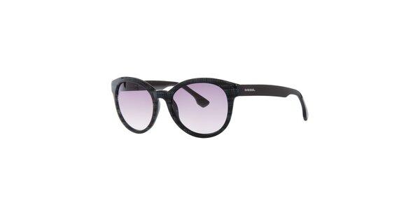 Dámske čierne slnečné okuliare Diesel so vzorom