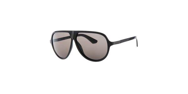 Pánske retro čierne slnečné okuliare Diesel