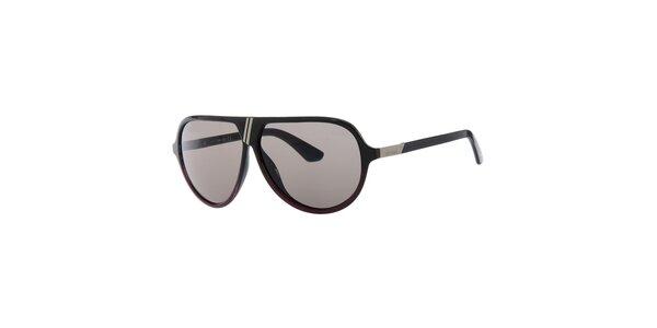 Pánske retro čierne slnečné okuliare so šedými sklami Diesel