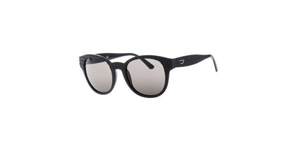 Dámske čierne slnečné okuliare s reliéfnym povrchom Diesel