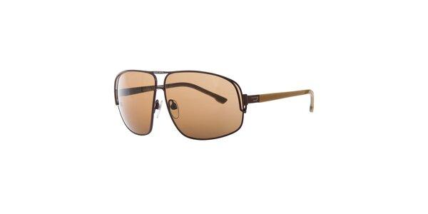 Pánske hnedé slnečné okuliare Diesel