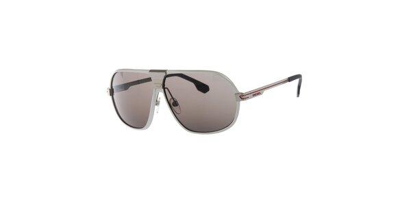 Pánske strieborné slnečné okuliare Diesel