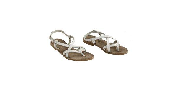 Dámske biele remienkové sandálky La Bellatrix