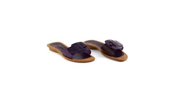 Dámske fialové šľapky La Bellatrix