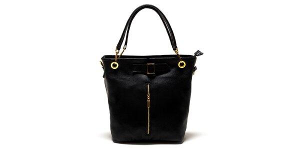 Dámska čierna kabelka so zipsom Luisa Vannini